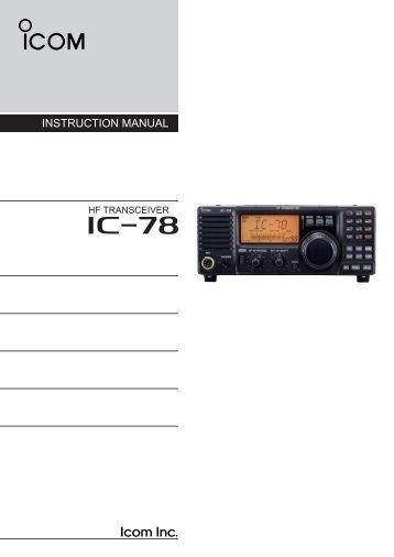 IC-78 - ICOM Canada