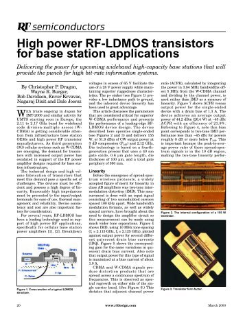 High power RF-LDMOS transistors for base station applications