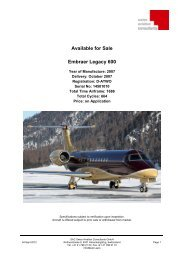Download Specifications (PDF) - Swiss Aviation Consulting Group