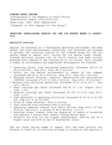 Redefine Properties Limited