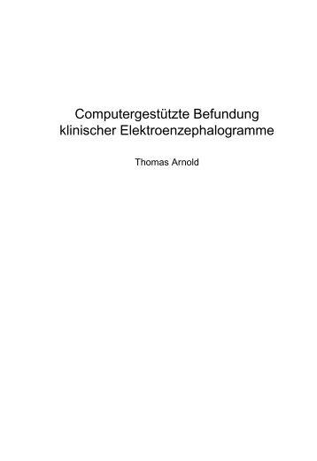 Computergestuetzte Befundung klinischer Elektroenzephalogramme