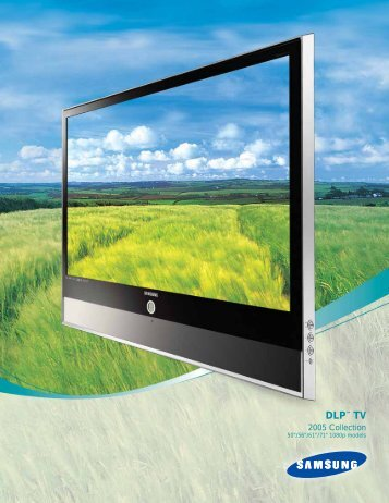 Full-Color Brochure from Samsung - DLP TV Review