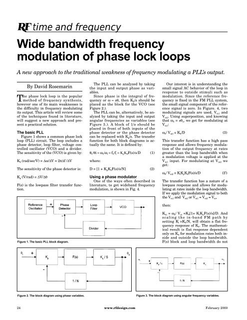 Wide bandwidth frequency modulation of phase lock loops