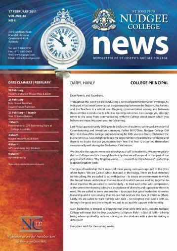 Daryl haNly College prinCipal - St Joseph's Nudgee College