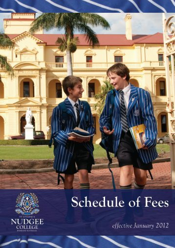 Schedule of Fees - St Joseph's Nudgee College