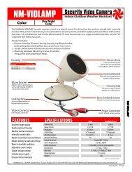 Security Video Camera NM-VIDLAMP - NetMedia