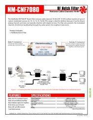 NM-CNF7080 RF Notch Filter - NetMedia