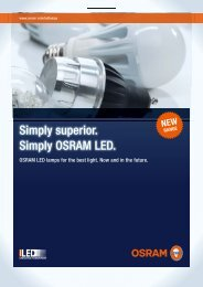 Simply superior. Simply OSRAM LED.