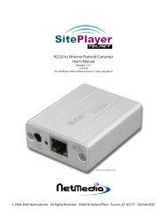 SitePlayer Telnet User's Manual - NetMedia