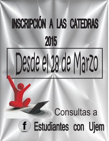 INSCRIPCION A CATEDRAS 2015