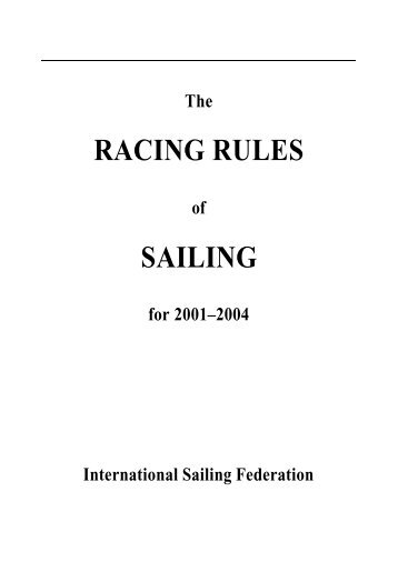 RACING RULES SAILING - enTouch