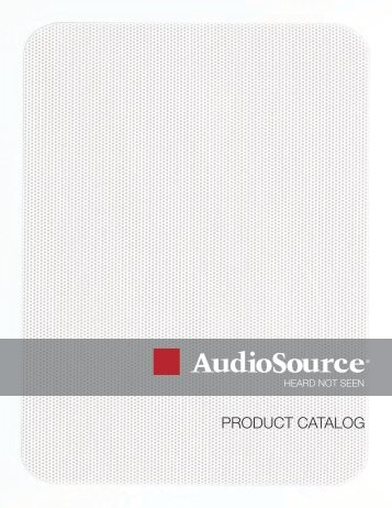 PRODUCT CATALOG - AudioSource