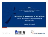 Modelling & Simulation in Aerospace - Liophant Simulation