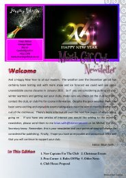 January Newsletter 2 - March Golf Club