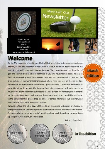 March 2011 Newsletter Web Normal - March Golf Club
