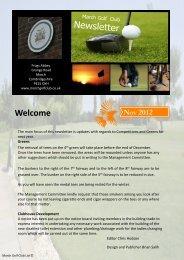 MGC November 2012 - March Golf Club