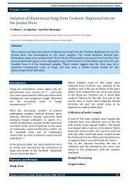 Isolation of filamentous fungi from Yardenit- Baptismal ... - Sjph.net.sd