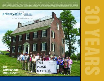 2011 commonwealth impact report - Preservation Pennsylvania
