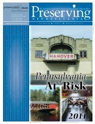 Volume 25, Number 1 - Preservation Pennsylvania