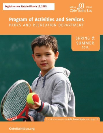 Program of Activities and Services