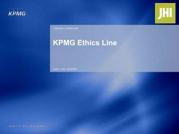 KPMG Ethics Line - JHI