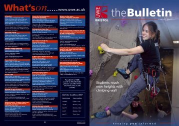 May07 Bulletin.indd - University of the West of England
