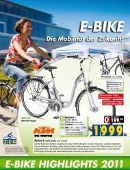 E-BikE HigHligHts 2011