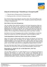 Zielpunkt als Nahversorger: Filialeröffnung in Herzogenburg/NÖ