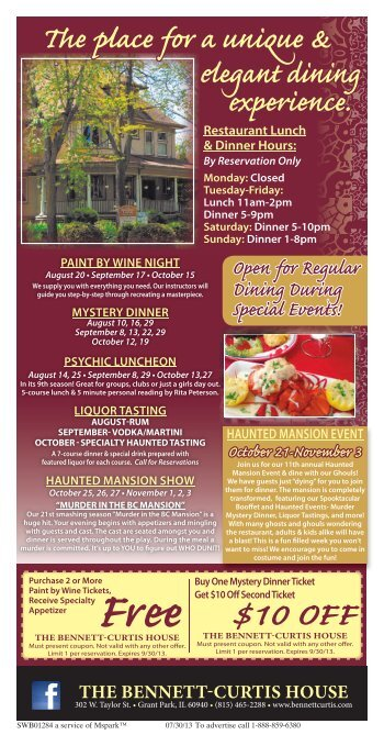 August 2013 Flyer - Bennett-Curtis House