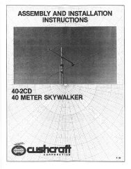 Page 1 Page 2 Your Cushcraft 40 meter beam is designed and ...