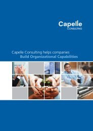 CORPORATE PROFILE 2013 - Capelle Academy