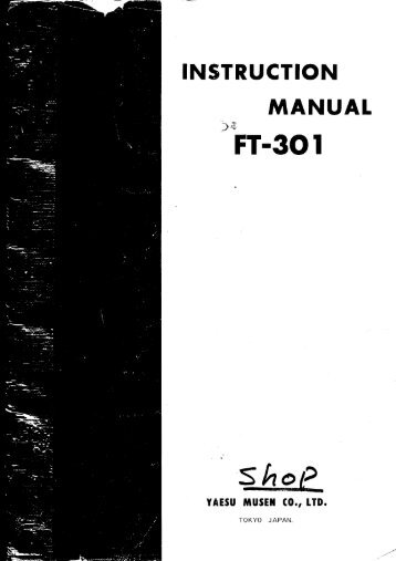 (FT 301D FT301D) Instruction Manual - Hampedia.net