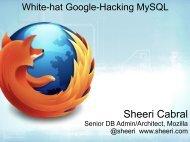 White-hat Google-Hacking MySQL