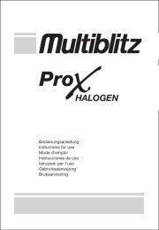 Bedienungsanleitung Instuctions for use Mode d'emploi - Multiblitz