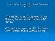 Community Transportation Coordinator Designation Process (9-1-11)