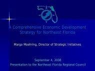 CEDS Presentation - Northeast Florida Regional Council
