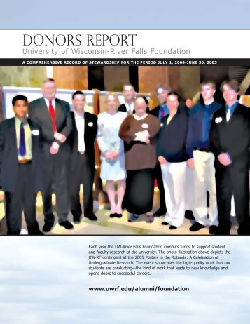 Donors Report - University of Wisconsin-River  Falls
