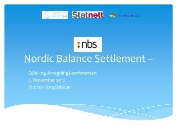 Nordic Balance Settlement: Hva er status og videre fremdriftsplan for ...