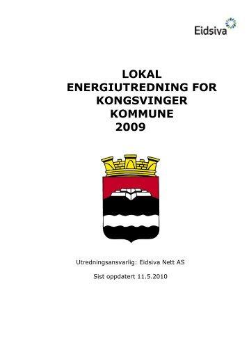 lokal energiutredning for kongsvinger kommune ... - Eidsiva Nett AS