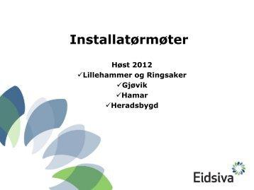 installatørmøte 2012 (pdf) - Eidsiva Nett AS