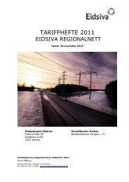 Tariffhefte 2011 (pdf) - Eidsiva Nett