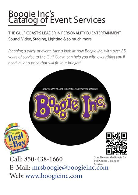 Boogie Inc's Catalog of Event Services Master