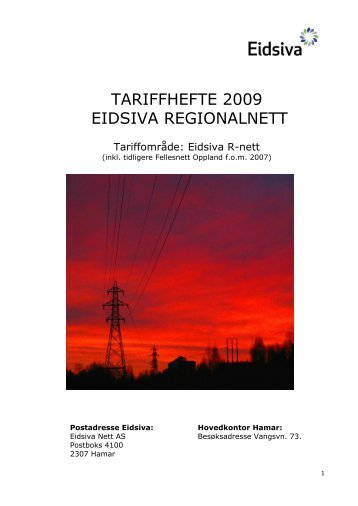 Tariffhefte 2009 (pdf) - Eidsiva Nett AS