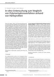 In-vitro-Untersuchung zum Vergleich von ... - Zahnheilkunde.de
