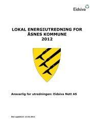 lokal energiutredning for åsnes kommune 2012 - Eidsiva Nett AS