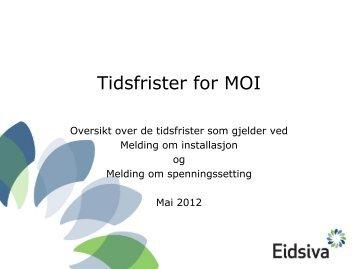 Tidsfrister for MOI (pdf) - Eidsiva Nett