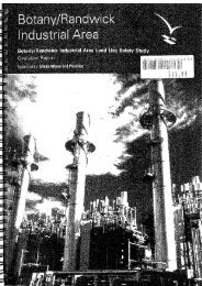Botany/Randwick Industrial Area Land Use Safety Study, 2001