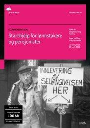 Starthjelp for lønnstakere og pensjonister - Skatteetaten