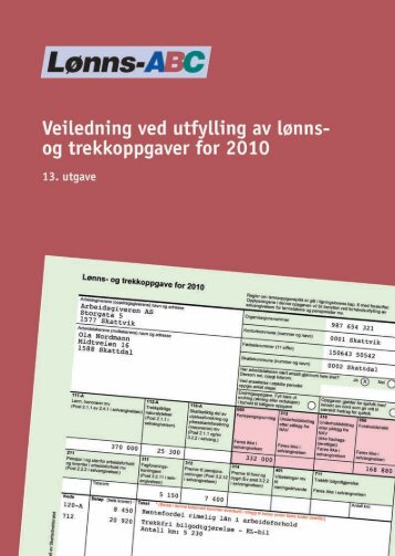 Lønns-ABC 2010 - Skatteetaten