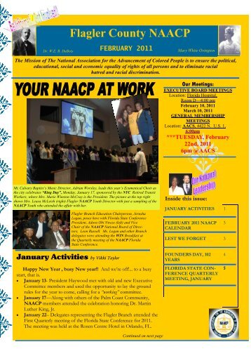 february 2011 - Flagler County NAACP